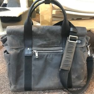 Jack Spade Halley Stevenson Dark Brown Waxwear Bag